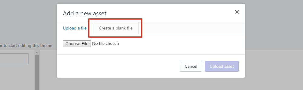select create a blank file