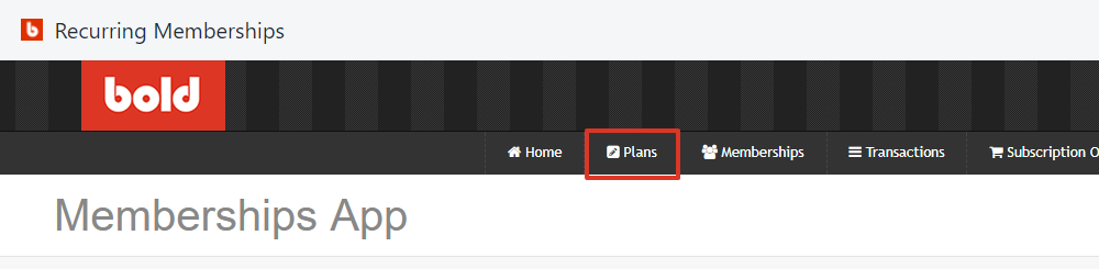 From the top navigation bar, select Plans