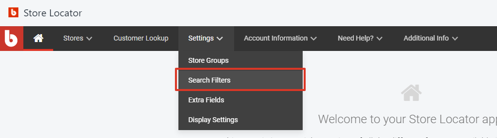 select search filters