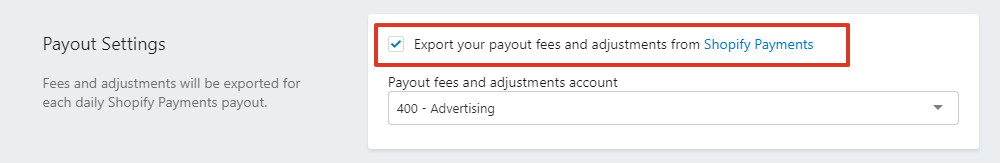 Export your payout fees and adjustments from Shopify Payments