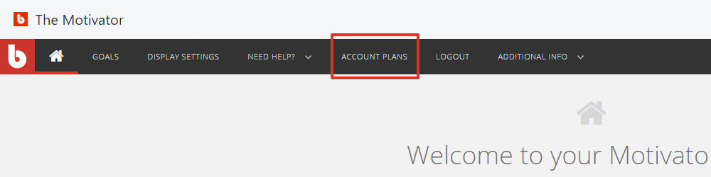 From Motivator's top navigation bar, select Account Plans