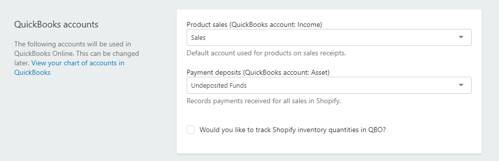 quickbooks accounts