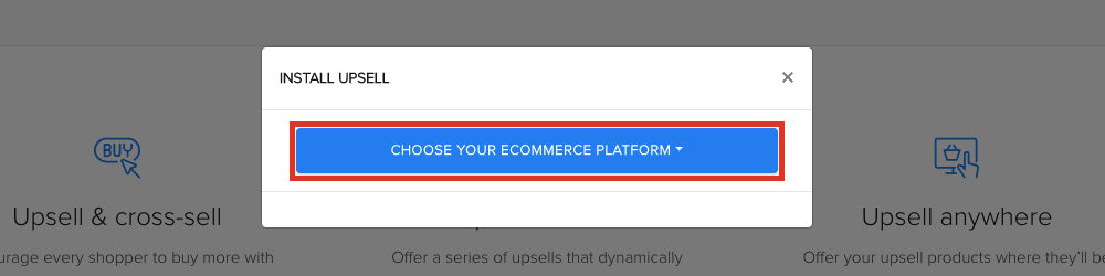 Select Choose Your eCommerce Platform